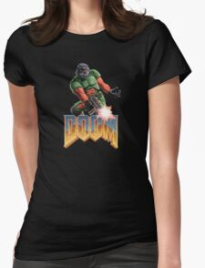 DOOM SPACE MARINE (2) Womens Fitted T-Shirt