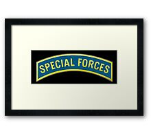 ARMY, AMERICAN, Special Forces, Arm Badge, Black Ops, USA, US, Framed Print