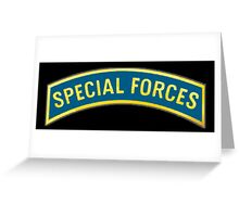 ARMY, AMERICAN, Special Forces, Arm Badge, Black Ops, USA, US, Greeting Card
