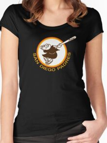 SAN DIEGO PADRES BASEBALL RETRO Women's Fitted Scoop T-Shirt