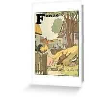 F is for Ferme - French Alphabet Animals Greeting Card