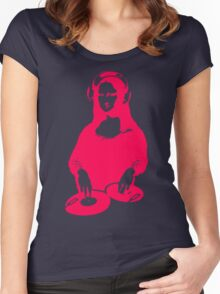 Lets Dance With DJ Monalisa Women's Fitted Scoop T-Shirt
