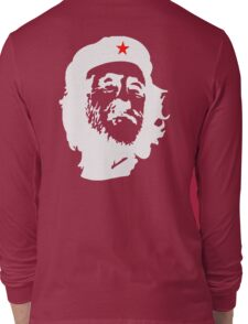 CORBYN, Comrade Corbyn, Leader, Labour Party, Politics, White on RED Long Sleeve T-Shirt