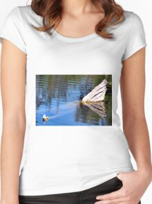 small black bird Women's Fitted Scoop T-Shirt