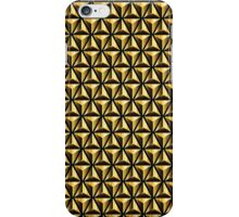 Golden triangles background iPhone Case/Skin