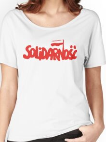 SOLIDARNOSC / SOLIDARITY FROM POLAND Women's Relaxed Fit T-Shirt