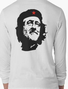 CORBYN, Comrade Corbyn, Leader, Labour Party, Black on White Long Sleeve T-Shirt