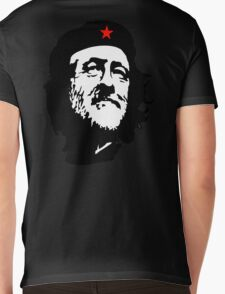 CORBYN, Comrade Corbyn, Leader, Labour Party, Black on White Mens V-Neck T-Shirt