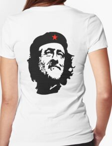 CORBYN, Comrade Corbyn, Leader, Labour Party, Black on White Womens Fitted T-Shirt