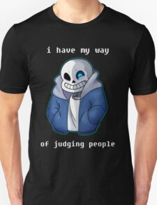 Sans Judgmental Unisex T-Shirt