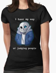 Sans Judgmental Womens Fitted T-Shirt