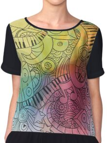 Sheet Music piano  Chiffon Top