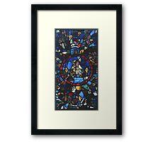 13 century leaded glass Framed Print