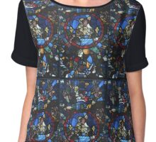 13 century leaded glass Chiffon Top