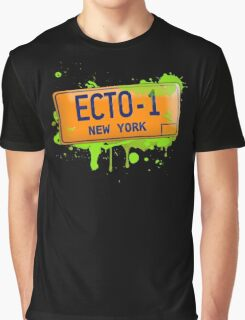 Ghostbusters ecto-1 license plate Graphic T-Shirt