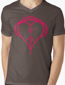 Heart Beat Music Spectrum Mens V-Neck T-Shirt