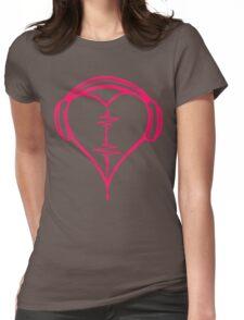 Heart Beat Music Spectrum Womens Fitted T-Shirt