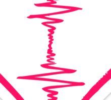 Heart Beat Music Spectrum Sticker