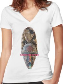 Lemme see ur face Women's Fitted V-Neck T-Shirt