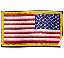 American, ARMY, Flag, reverse side flag, Arm Badge, Embroidered, Stars and Stripes, USA, United States, America, Military Badge Poster