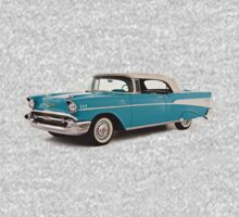 vintage chevrolet blue | Cars One Piece - Long Sleeve