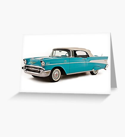vintage chevrolet blue | Cars Greeting Card