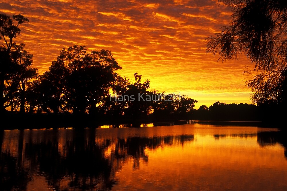 Murray River Sunrise by Hans Kawitzki