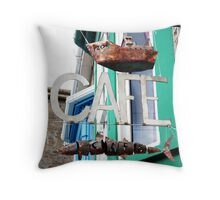 Rustic Cafe - Penzance, UK Throw Pillow