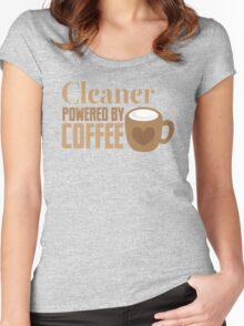 Cleaner powered by coffee Women's Fitted Scoop T-Shirt