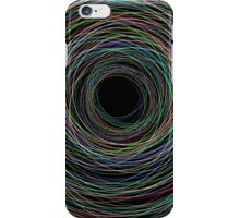 Hand Drawn Circular Lines Background iPhone Case/Skin