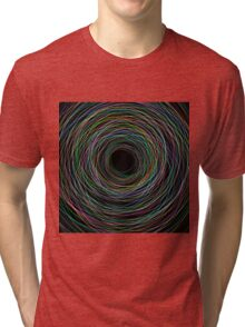 Hand Drawn Circular Lines Background Tri-blend T-Shirt