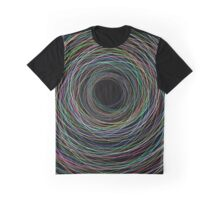 Hand Drawn Circular Lines Background Graphic T-Shirt