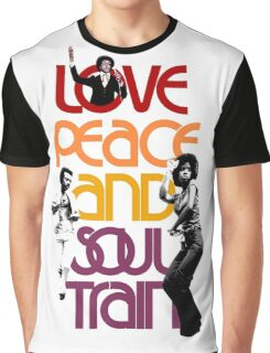 Love, Peace And Soul Train Graphic T-Shirt