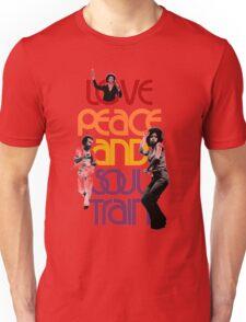 Love, Peace And Soul Train Unisex T-Shirt