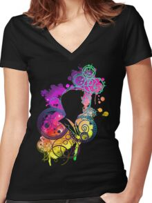 Dreamer of improbable dreams Women's Fitted V-Neck T-Shirt