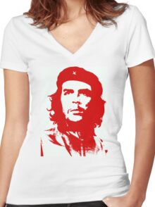 Che Guevara Women's Fitted V-Neck T-Shirt
