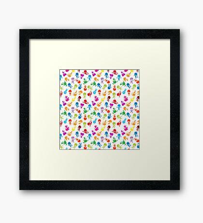 colorful kids Framed Print