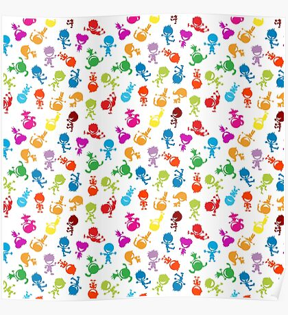 colorful kids Poster