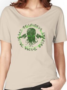 In his house at R'lyeh dead Cthulhu waits dreaming GREEN Women's Relaxed Fit T-Shirt