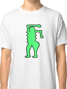 Keith Haring Inspired Pop Art Pattern Classic T-Shirt