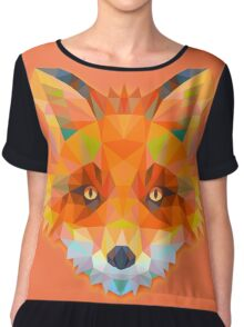 Fox Animals Gift Chiffon Top