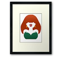 Red-Haired Coquette Framed Print
