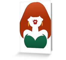 Red-Haired Coquette Greeting Card