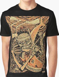 Swimming Skeleton Graphic T-Shirt