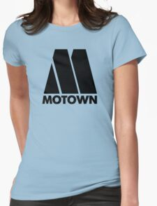 MOTOWN DISCO RECORDS Womens Fitted T-Shirt