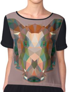 Boar Animals Gift Chiffon Top