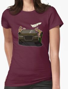 Do I look like a cat, boy? Womens Fitted T-Shirt