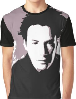 Keanu Reeves in the Matrix, Purple Color Graphic T-Shirt