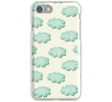 Clouds shabby seamless pattern iPhone Case/Skin