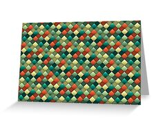 Colored rhombus pattern Greeting Card